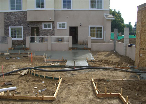 Outdoor Concrete Laying